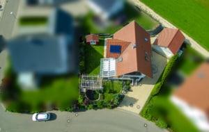 Drohnenaufnahmen Haus in Gosheim zu verkaufen