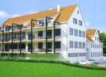 Visualisierung Wohn- und Gewerbeimmobilie mit projektiertem Wohnungsbau (15 Wohnungen) in Albstadt Lautlingen